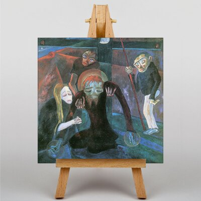 Big Box Art Descent from the Cross by Walter Gramatté Art Print on Canvas