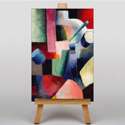 Big Box Art Coloured Composition Forms by August Macke Art Print on Canvas