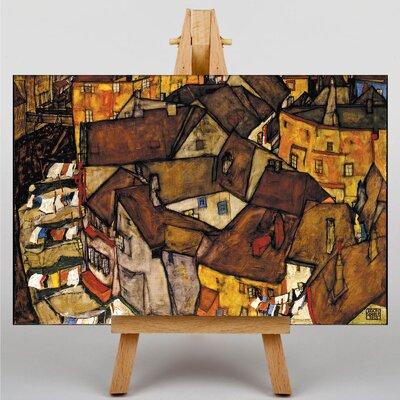 Big Box Art Crescent of Houses by Egon Schiele Art Print on Canvas