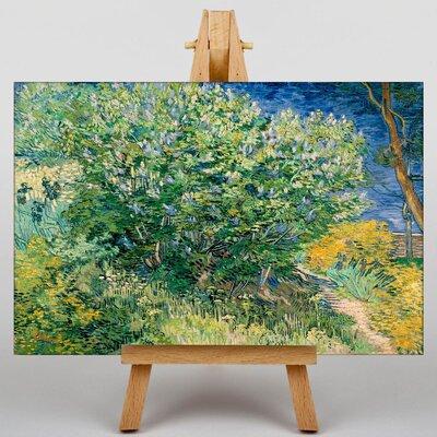 Big Box Art Lilac Bush by Vincent Van Gogh Art Print on Canvas