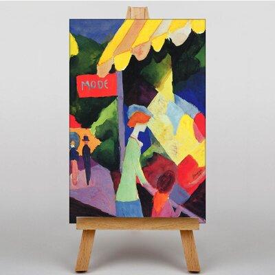 Big Box Art Fashion Window by August Macke Art Print on Canvas