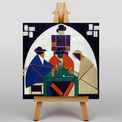 Big Box Art Card Players by Theo Van Doesburg Graphic Art on Canvas