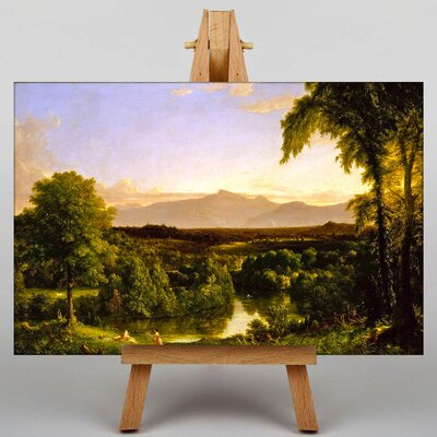 Big Box Art Early Autumn View of Catskill by Thomas Cole Art Print on Canvas