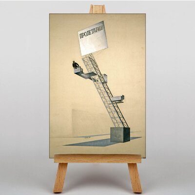 Big Box Art Tribune Sketch by El Lissitzky Graphic Art on Canvas