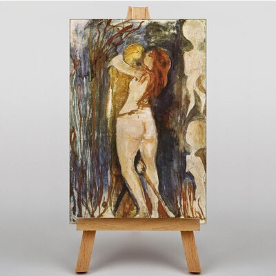 Big Box Art The Death and the Young Girl by Edvard Munch Art Print on Canvas