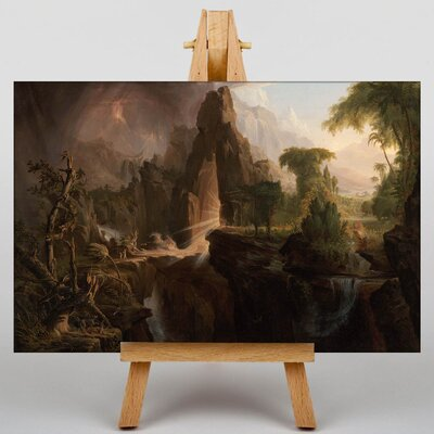 Big Box Art Expulsion from the Garden of Eden by Thomas Cole Art Print on Canvas