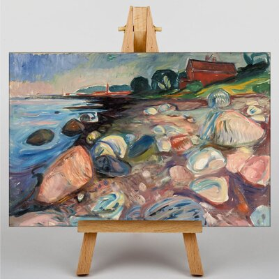 Big Box Art The Shore with a Red House by Edvard Munch Art Print on Canvas