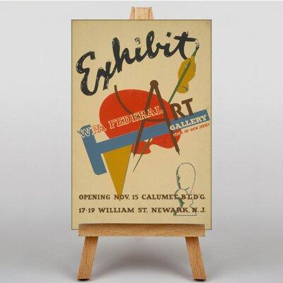 Big Box Art Exhibition No.25 Vintage Advertisement on Canvas