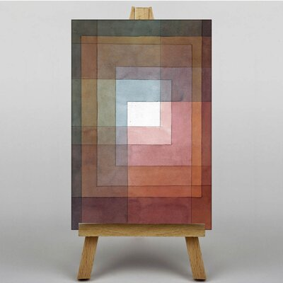 Big Box Art Watercolour Squares by Paul Klee Art Print on Canvas