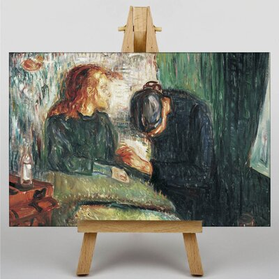 Big Box Art The Sick Child No.2 by Edvard Munch Art Print on Canvas
