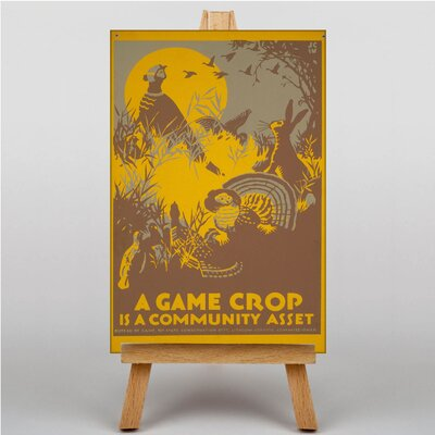 Big Box Art A Game Crop Vintage Advertisement on Canvas