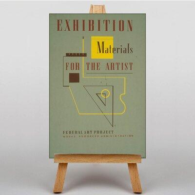 Big Box Art Exhibition No.35 Vintage Advertisement on Canvas