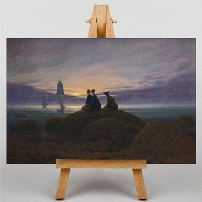 Big Box Art Moonrise over the Sea by Friedrich Caspar David Art Print on Canvas