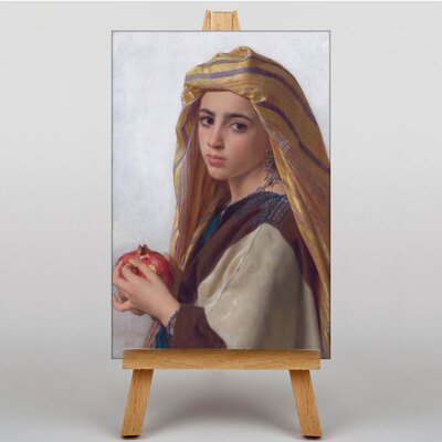 Big Box Art Girl with a Pomegranite by William Adolphe Bouguereau Art Print on Canvas