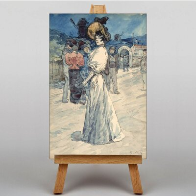 Big Box Art Outside the Moulin Galette by Henry Somm Art Print on Canvas