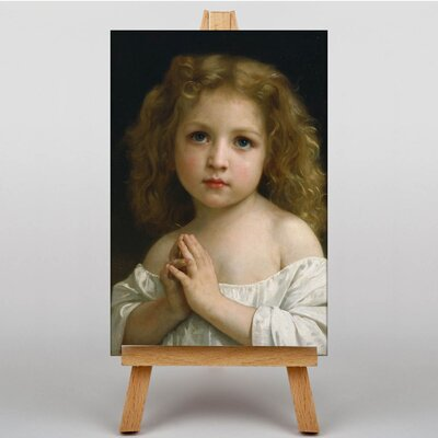 Big Box Art Little Girl by William Adolphe Bouguereau Art Print on Canvas
