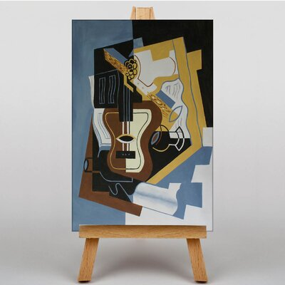 Big Box Art Guitar with Clarinet by Juan Gris Art Print on Canvas