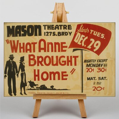 Big Box Art What Anne Brought Home Vintage Advertisement on Canvas