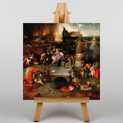 Big Box Art Hieronymous Bosch The Temptation of St Anthony by Hieronymus Bosch Art Print on Canvas
