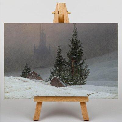 Big Box Art Winter Landscape by Friedrich Caspar David Graphic Art on Canvas