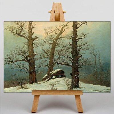 Big Box Art Winter Scene by Friedrich Caspar David Art Print on Canvas