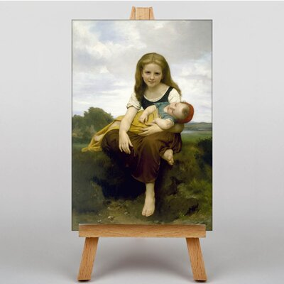 Big Box Art The Elder Sister by William Adolphe Bouguereau Art Print on Canvas