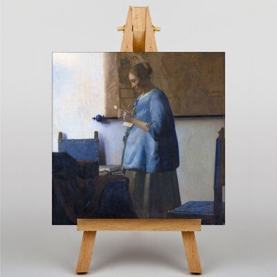 Big Box Art Woman Reading a Letter by Johannes Vermeer Art Print on Canvas
