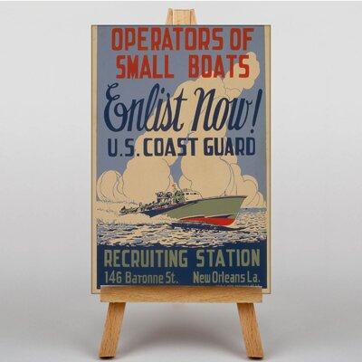 Big Box Art Enlist Now Vintage Advertisement on Canvas