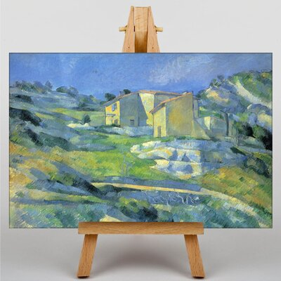 Big Box Art Landscape and Houses No.2 by Paul Cezanne Art Print on Canvas