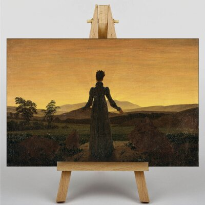 Big Box Art Woman Before the Rising Sun by Friedrich Caspar David Art Print on Canvas