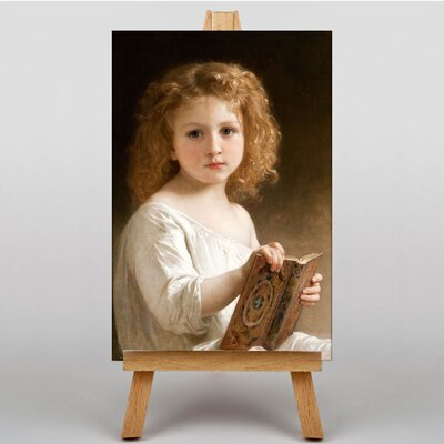Big Box Art Young Girl Reading by William Adolphe Bouguereau Art Print on Canvas