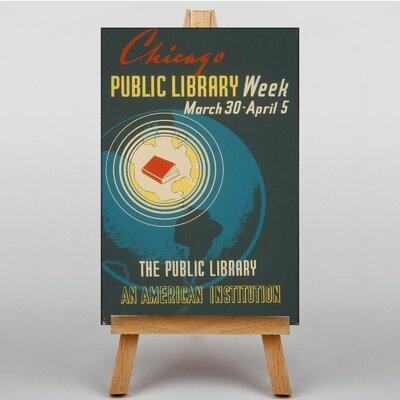 Big Box Art Public Library Vintage Advertisement on Canvas