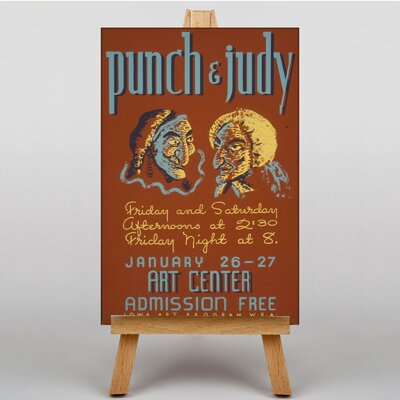 Big Box Art Punch and Judy Vintage Advertisement on Canvas