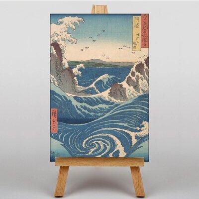 Big Box Art Japanese Oriental Awa Province, Naruto Whirlpools by Hiroshige Graphic Art on Canvas