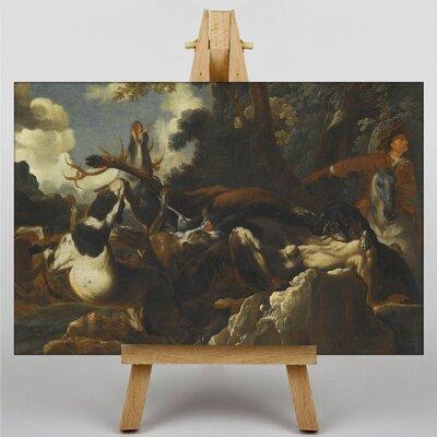 Big Box Art A Stag Hunt by Abraham Hondius Art Print on Canvas