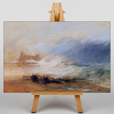 Big Box Art Northumberland with a Steamboat by Joseph Mallord William Turner Art Print on Canvas