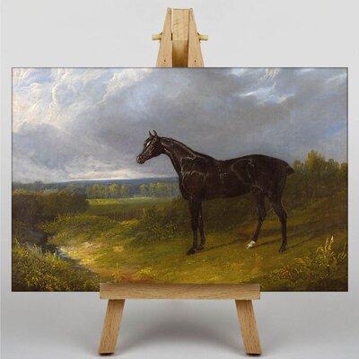 Big Box Art Black Horse by John Frederick Herring Art Print on Canvas