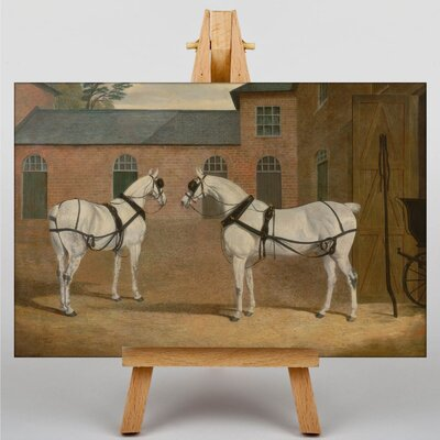 Big Box Art Carriage Horses by John Frederick Herring Art Print on Canvas
