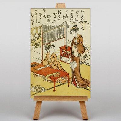 Big Box Art Japanese Oriental No.5 by Torii Kiyonaga Graphic Art on Canvas