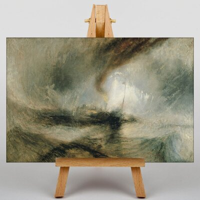 Big Box Art Snow Storm by Joseph Mallord William Turner Art Print on Canvas