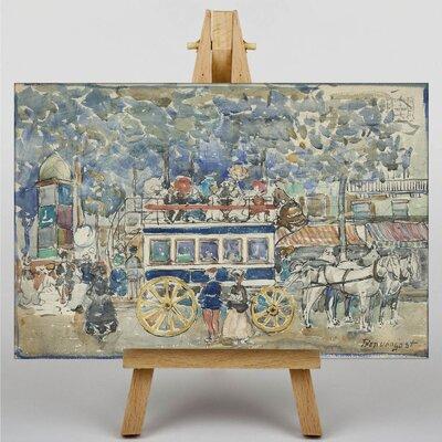 Big Box Art Maurice Pendergrast The Paris Omnibus by Maurice Prendergast Art Print on Canvas