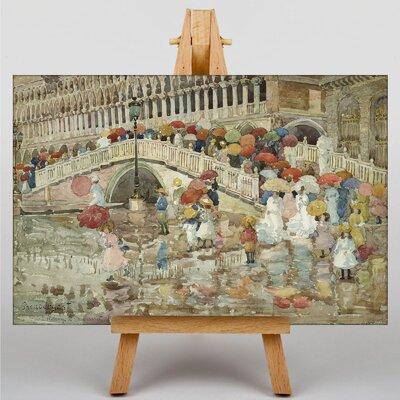 Big Box Art Maurice Pendergrast Umbrellas in the Rain by Maurice Prendergast Art Print on Canvas