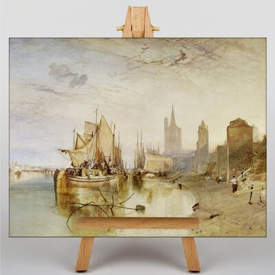 Big Box Art The Arrival of a Packet Boat by Joseph Mallord William Turner Art Print on Canvas