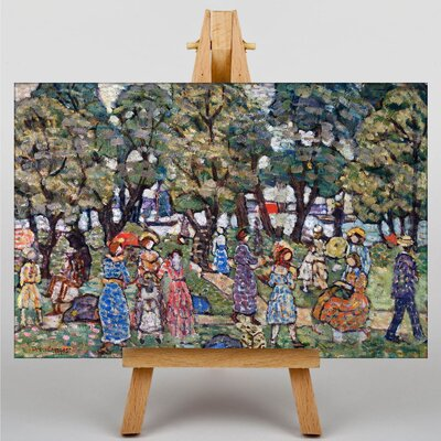 Big Box Art Maurice Pendergrast Under the Trees by Maurice Prendergast Art Print on Canvas