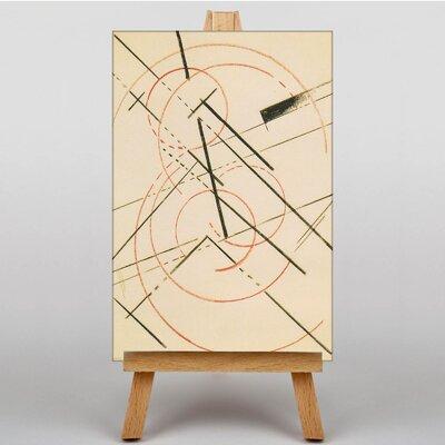 Big Box Art Linear Composition by Lyubov Popova Art Print on Canvas