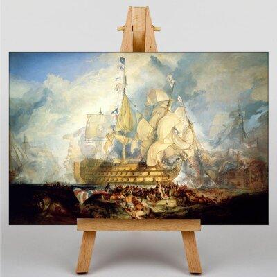 Big Box Art The Battle of Trafalgar by Joseph Mallord William Turner Art Print on Canvas