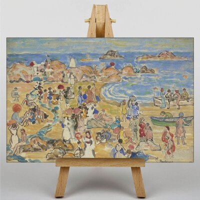 Big Box Art Maurice Pendergrast View Along New England Coast by Maurice Prendergast Art Print on Canvas