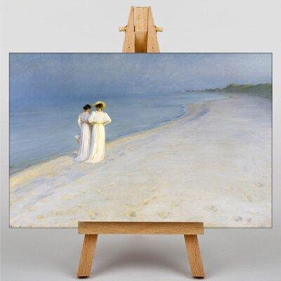 Big Box Art Anna Walking on the Beach by Michael Ancher Art Print on Canvas