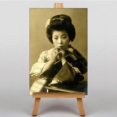Big Box Art Japanese Geisha Girl No.4 Oriental Photographic Print on Canvas
