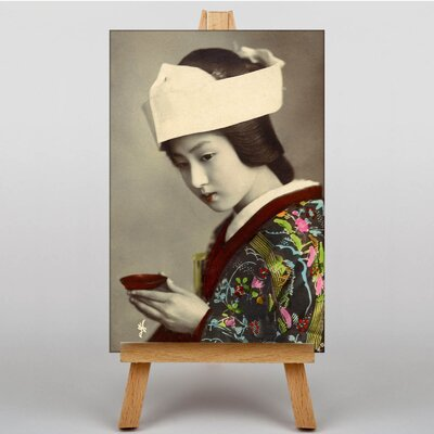 Big Box Art Japanese Geisha Girl No.5 Oriental Photographic Print on Canvas